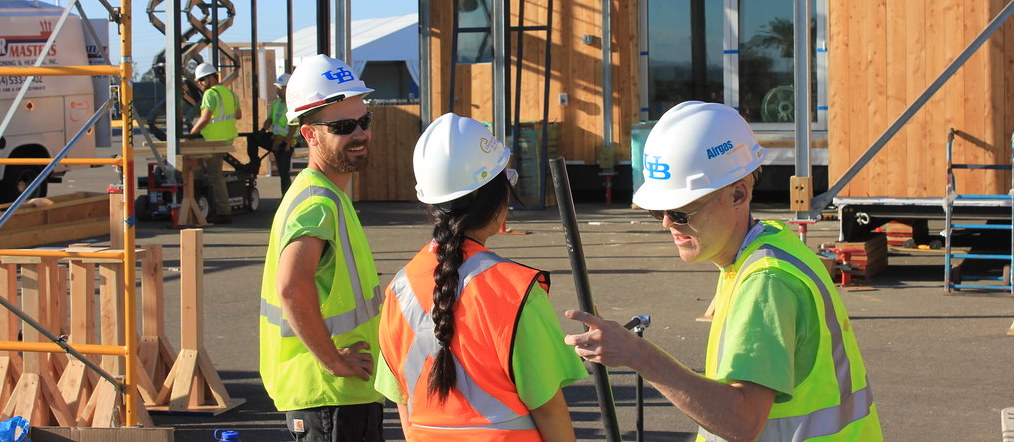 'Day 6 of Construction at the U.S. Department of Energy Solar Decathlon' by Dept of Energy Solar Decathlon is licensed under CC PDM 1.0